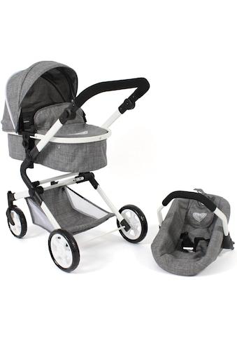 CHIC2000 Kombi-Puppenwagen »Lia, Jeans grey«, mit Puppen-Autositz kaufen