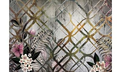 Consalnet Vliestapete »Goldenes Motiv/Blumen«, floral kaufen