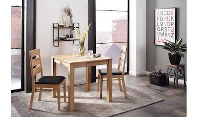 Home affaire Essgruppe »Soeren 1«, (Set, 3 tlg., Tisch 80 x 80, 2 Stühle,... kaufen