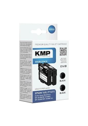 KMP Doppelpack Tintenpatrone ersetzt Epson schwarz kaufen