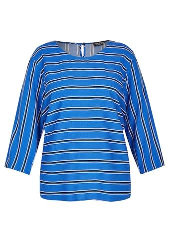 VIA APPIA DUE Luftige Bluse mit Streifen-Muster Plus Size kaufen