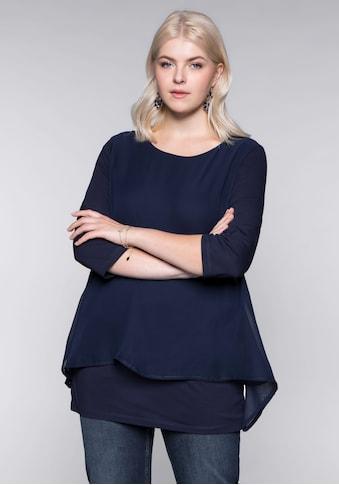 Sheego Blusenshirt, in leichter A-Linie mit Zipfelsaum kaufen