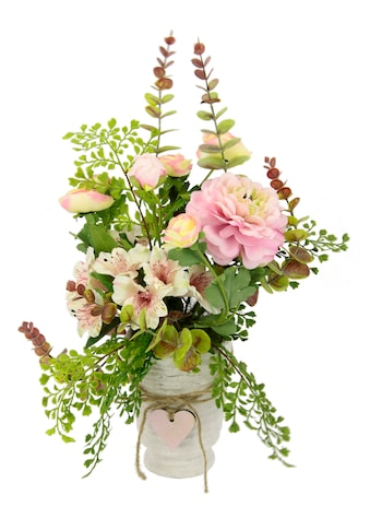 I.GE.A. Kunstblume »Arrangement Blüten/Ranunkel«, Topf aus Keramik kaufen