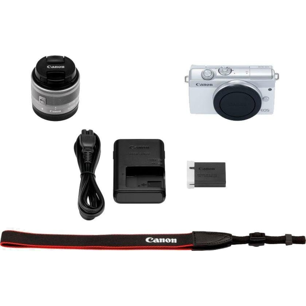 Canon Systemkamera »EOS M200 EF-M 15-45mm f3.5-6.3 IS STM Kit«, EF-M 15-45mm f/3.5-6.3 IS STM, 24,1 MP, Bluetooth-WLAN (Wi-Fi)