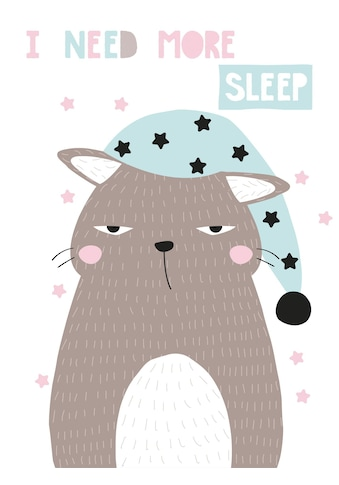 queence Leinwandbild »More sleep« kaufen