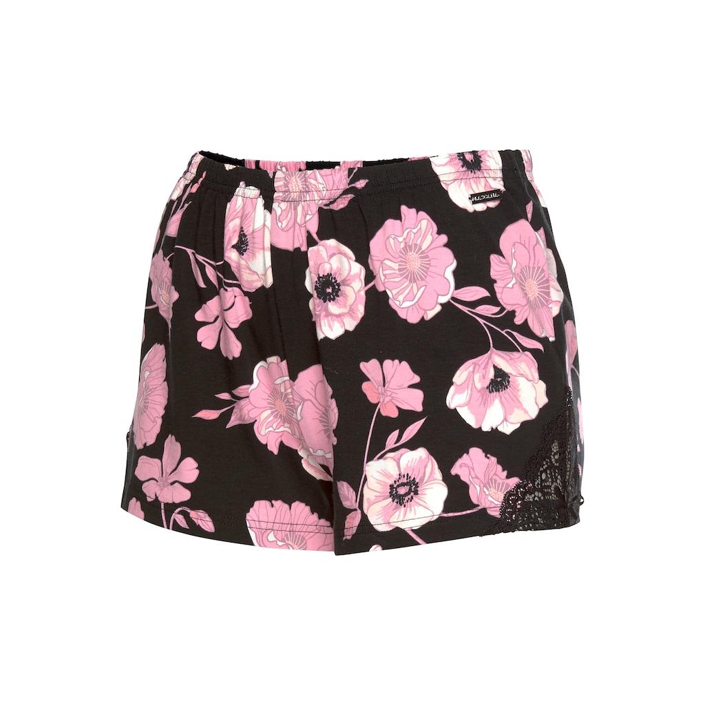 LASCANA Shorts, mit Spitzeneinsätzen