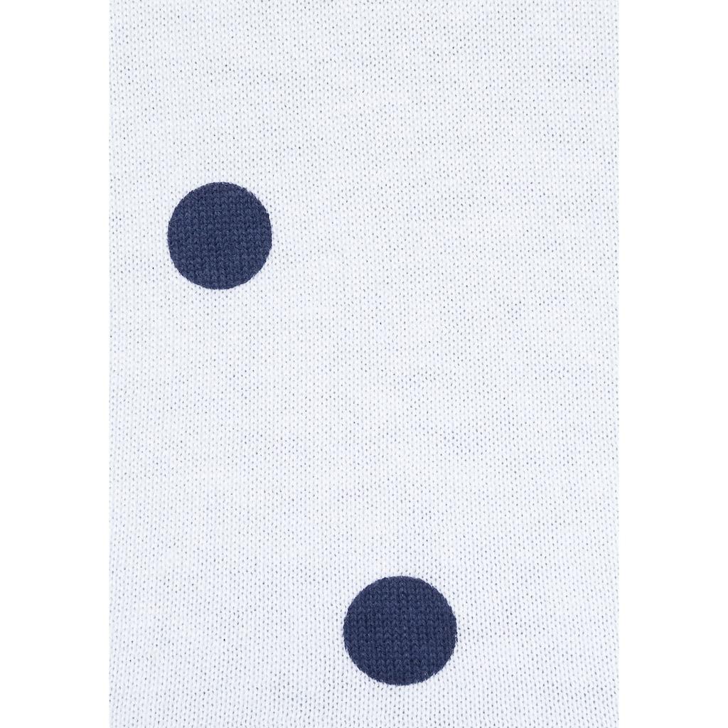 KangaROOS Strickjacke, mit Punkte-Druck und Kontraststreifen