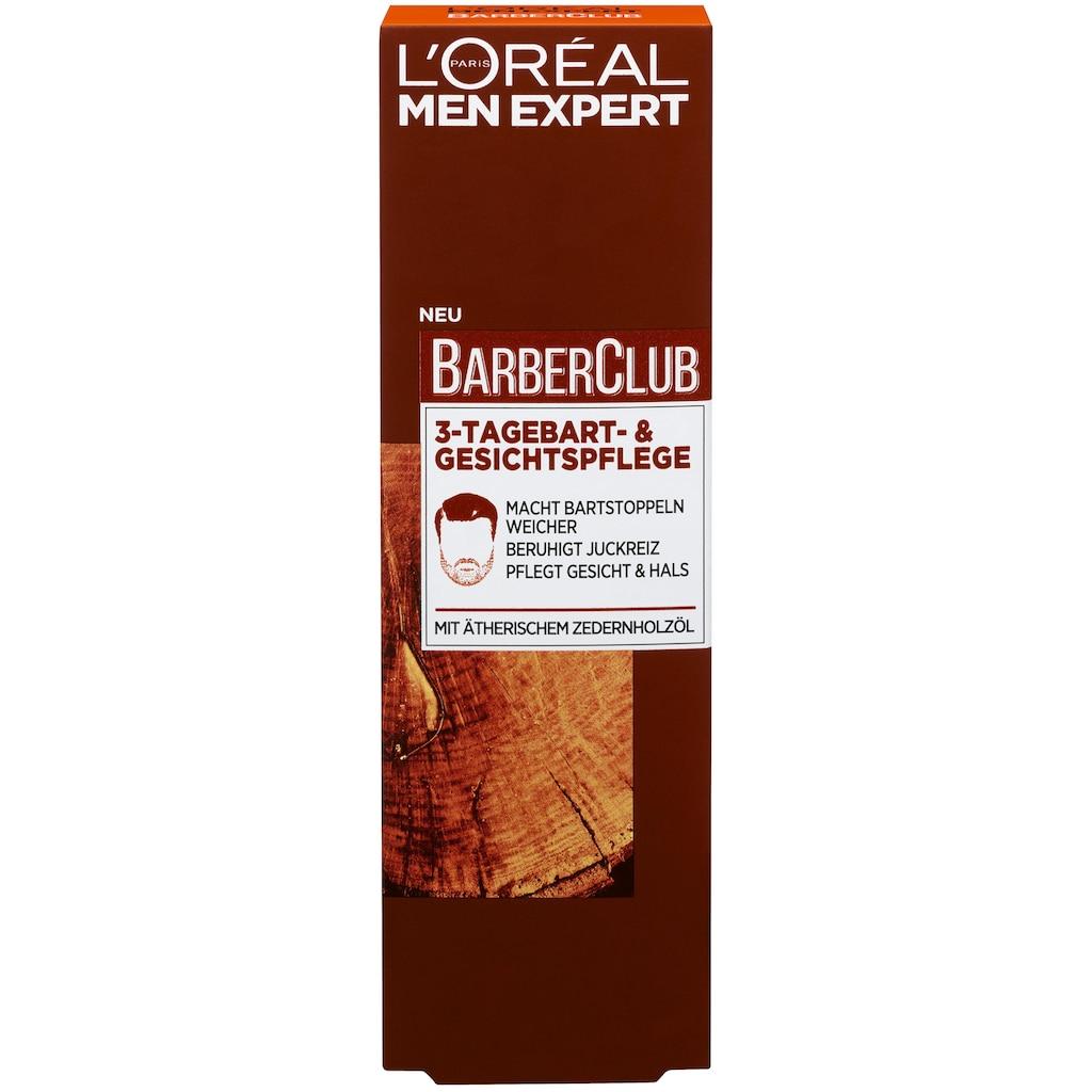 L'ORÉAL PARIS MEN EXPERT Feuchtigkeitscreme »Barber Club 3-Tagebart- und Gesichtspflege«, spendet Feuchtigkeit, beruhigt Juckreiz
