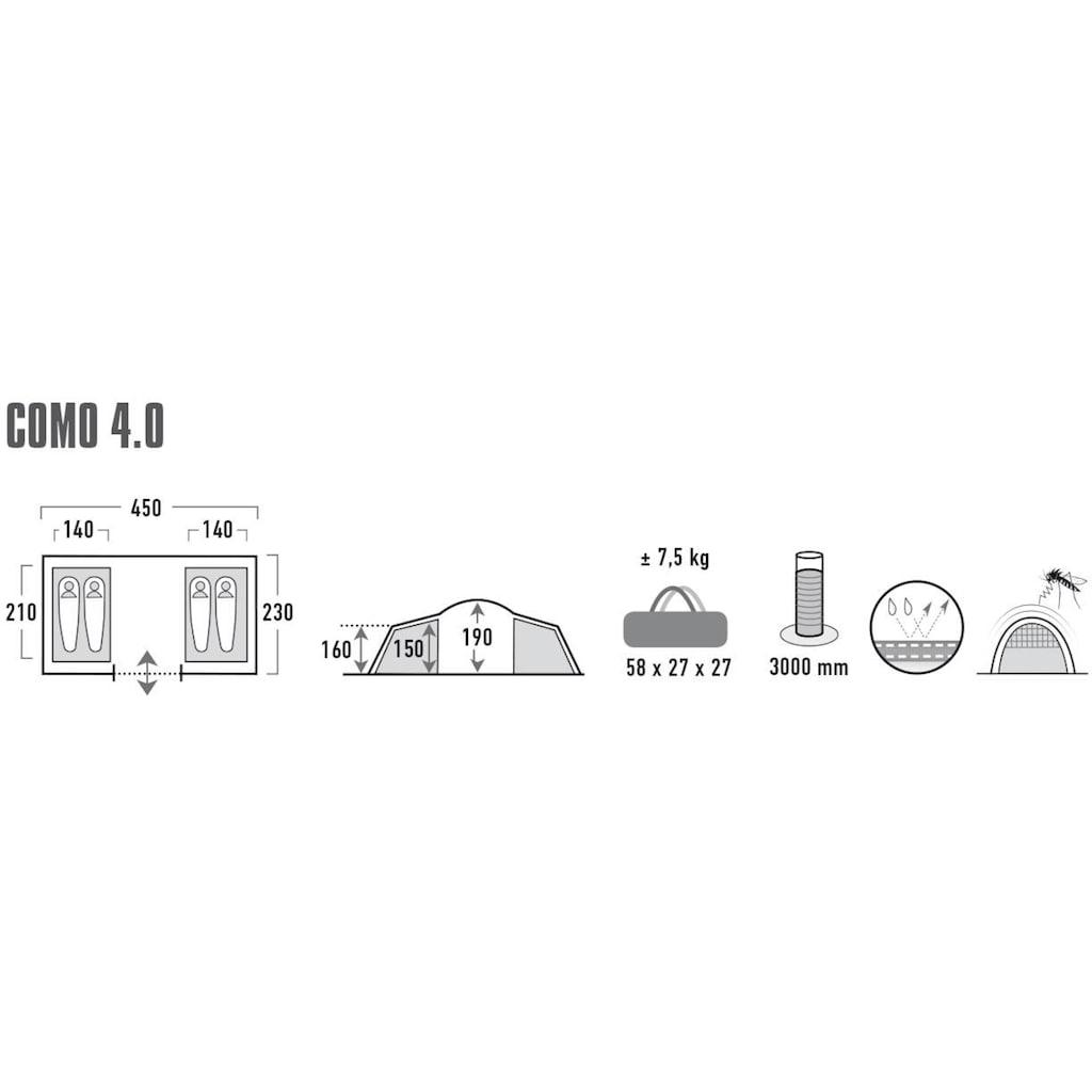High Peak Kuppelzelt »Zelt Como 4.0«, 4 Personen, (mit Transporttasche)