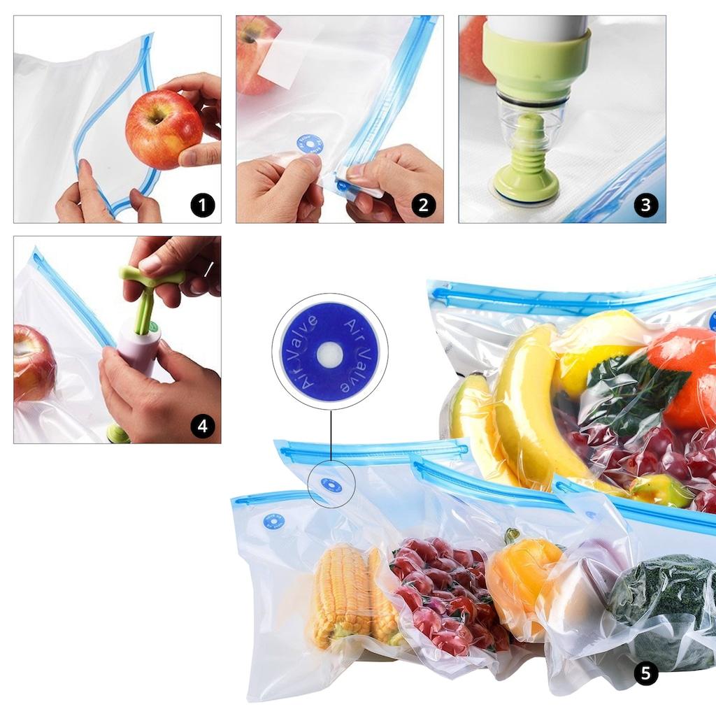 LA VAGUE Sous-Vide Stick »SOUS-CHEF«, Set (Handpumpe, Beutel, Klemmen, Vakuum-Flaschenverschluss)