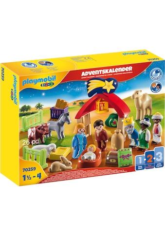 "Playmobil® Adventskalender ""Weihnachtskrippe (70259), Playmobil 1 - 2 - 3"" (26 - tlg.) kaufen"