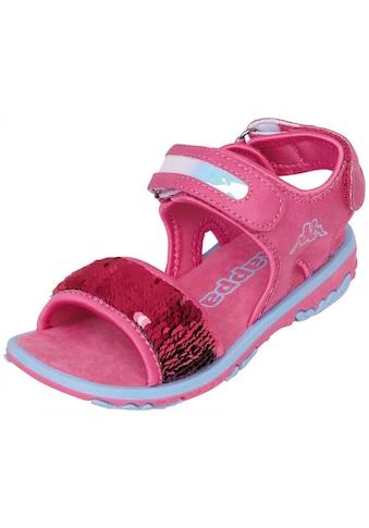 Kappa Sandale »SEAQUEEN KIDS«, mit Wendepailetten kaufen