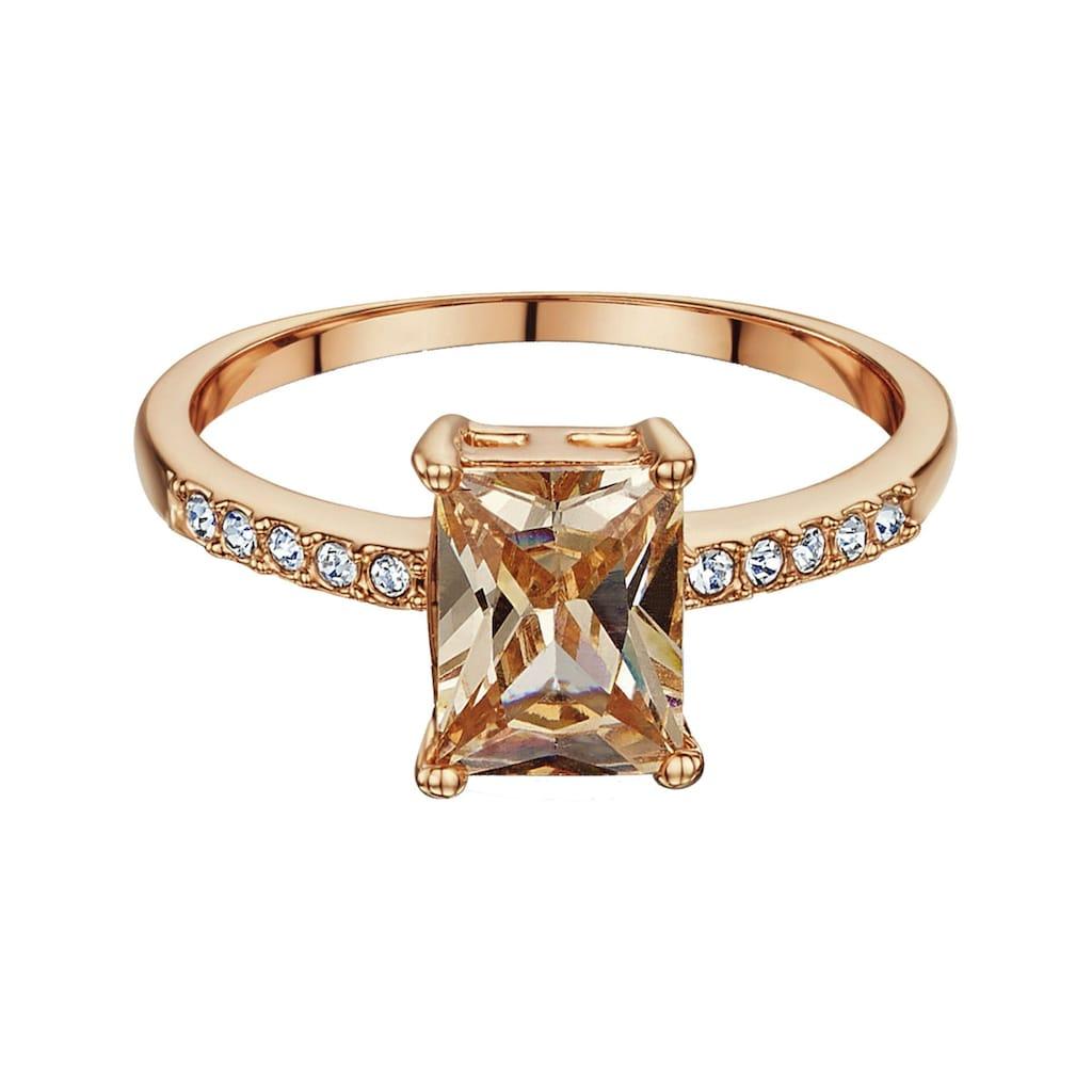 Buckley London Ring rosévergoldet mit Zirkonia
