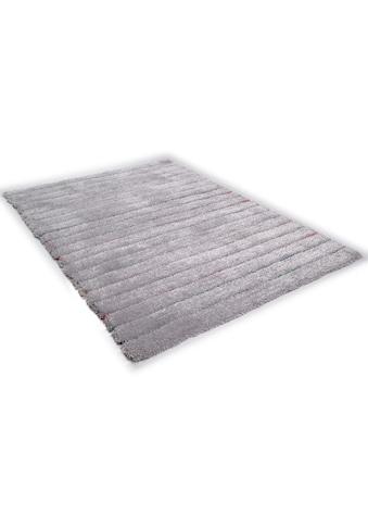 Hochflor - Teppich, »Soft Hidden Stripes«, TOM TAILOR, rechteckig, Höhe 35 mm, handgetuftet kaufen