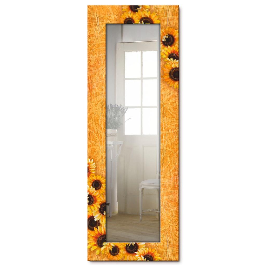 Artland Wandspiegel »Sonnenblumen«, gerahmter Ganzkörperspiegel mit Motivrahmen, geeignet für kleinen, schmalen Flur, Flurspiegel, Mirror Spiegel gerahmt zum Aufhängen