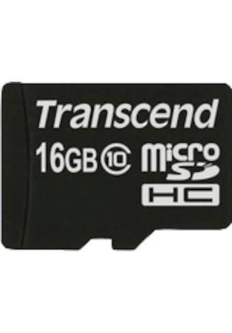 Transcend »microSDXC/SDHC Class 10« Speicherkarte kaufen