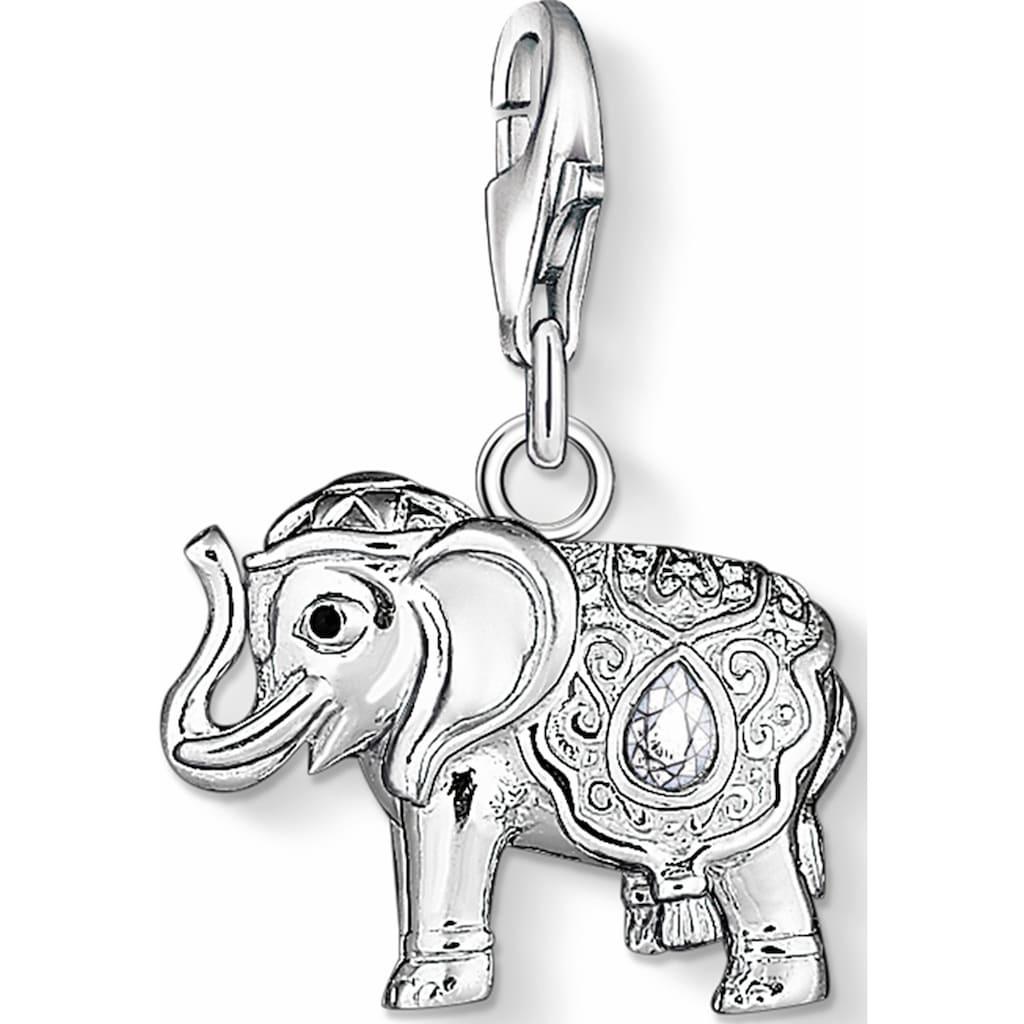 THOMAS SABO Charm-Einhänger »Elefant, 1050-041-14«, mit Zirkonia