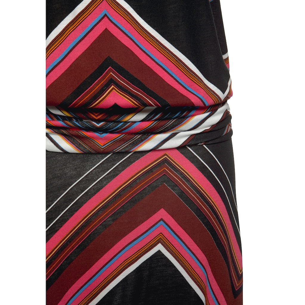 LASCANA Strandkleid, mit Zick-zack-Muster