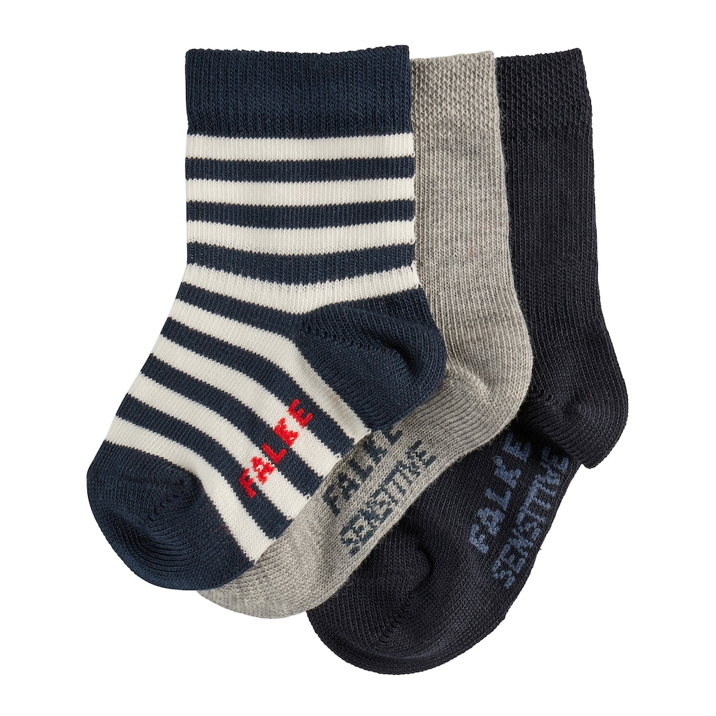 FALKE Socken »3-Pack«, (3 Paar), aus hautfreundlicher Baumwolle