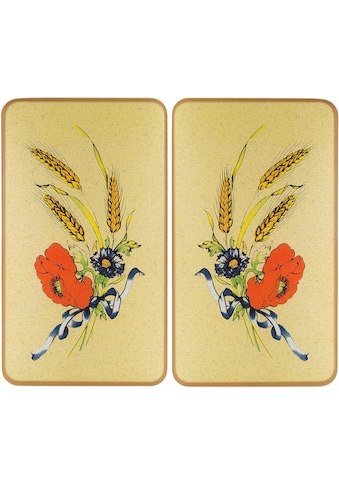 WENKO Herd-Abdeckplatte »Kornblumen«, (Set, 2 tlg.), rutschfesten Spezialfüße kaufen