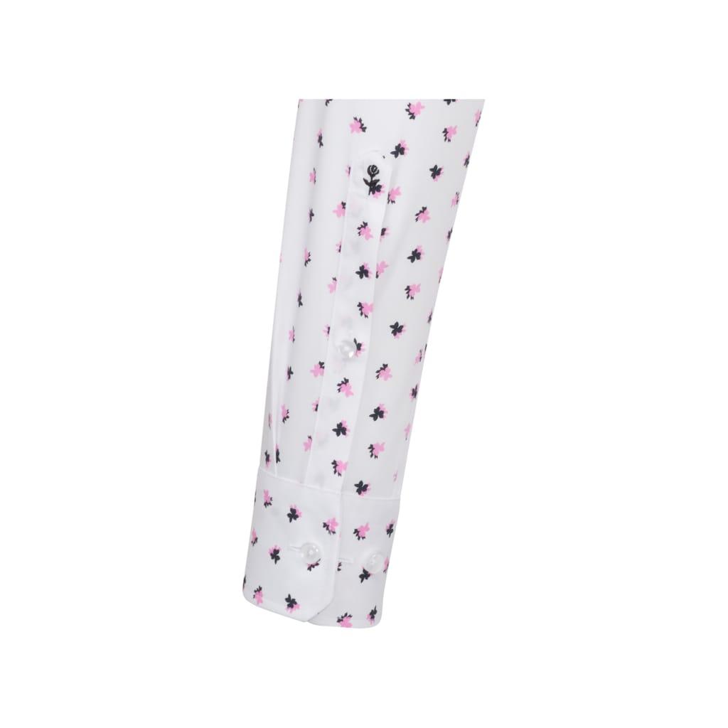 seidensticker Businesshemd »Regular«, Regular Langarm Covered-Button-Down-Kragen Floral