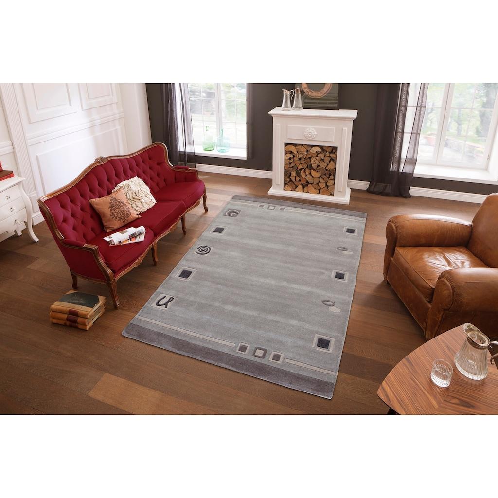Theko Exklusiv Wollteppich »TULSIPUR«, rechteckig, 13 mm Höhe, reine Wolle, Wohnzimmer