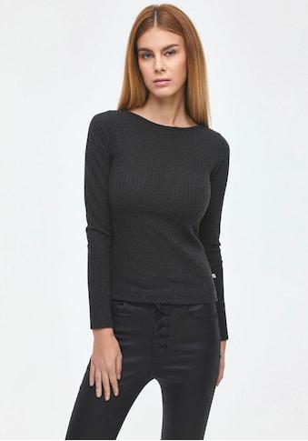 LTB Rundhalsshirt »CEWOME«, in schlichtem Ripp-Design kaufen