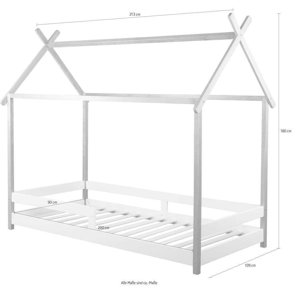 Lüttenhütt Hausbett »Limba«, Kinderbett in skandinavischem Stil