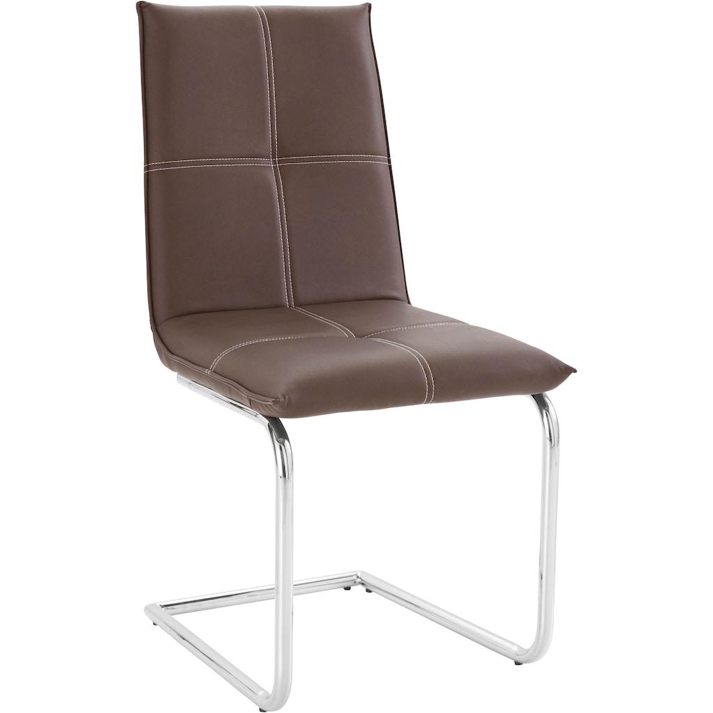 INOSIGN Essgruppe »Kaleo/Claire«, (Set, 5 tlg.), mit 4 Stühlen und 1 Tisch weiß Hochglanz