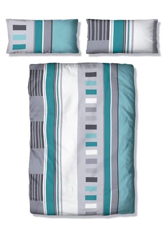 my home Bettwäsche »Ella«, mit Streifen und Vierecken kaufen