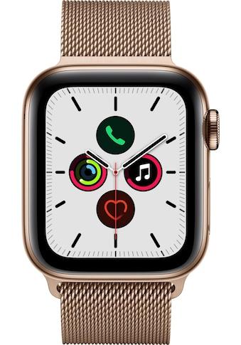 Watch Series 5 GPS + Cellular, Edelstahl gold, 44 mm mit Milanaisearmband, Apple kaufen