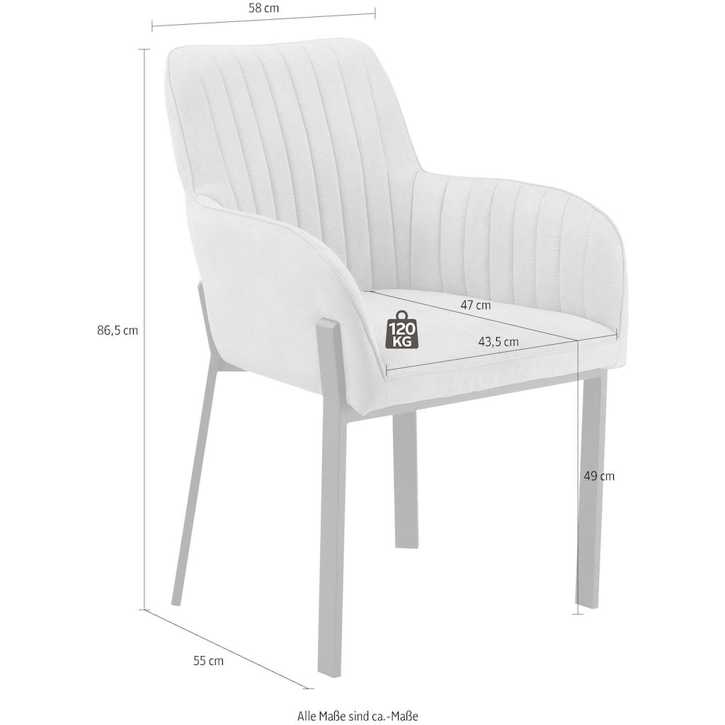 Places of Style Esszimmerstuhl »Maryland«, 2er-Set, Sitz und Rücken gepolstert, modernes Design