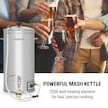 ONECONCEPT Maischekessel 30 Liter 30-140°C Umwälzpumpe Edelstahl