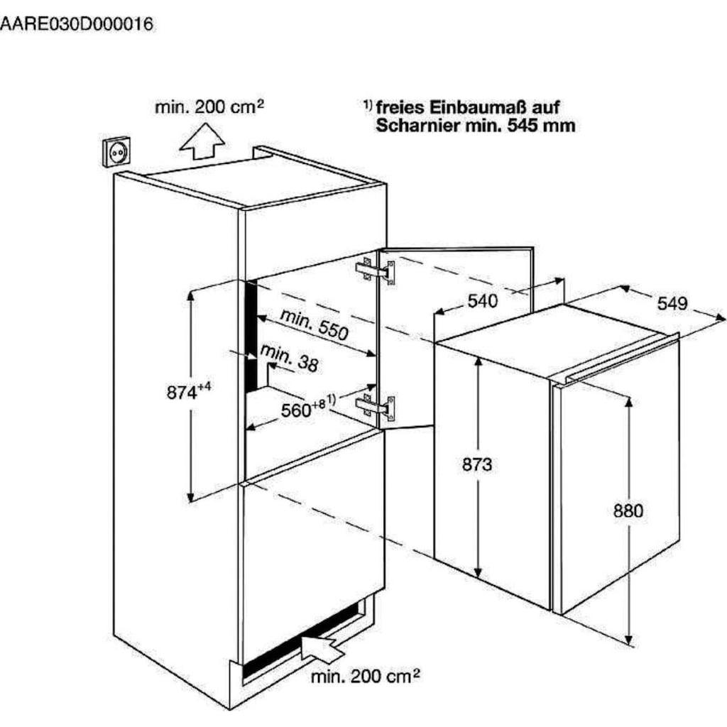 Zanussi Einbaukühlschrank, 87,3 cm hoch, 54 cm breit