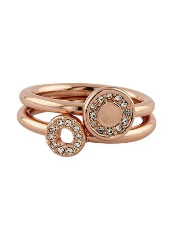 Buckley London Ring-Set rosévergoldet mit Kristallen kaufen