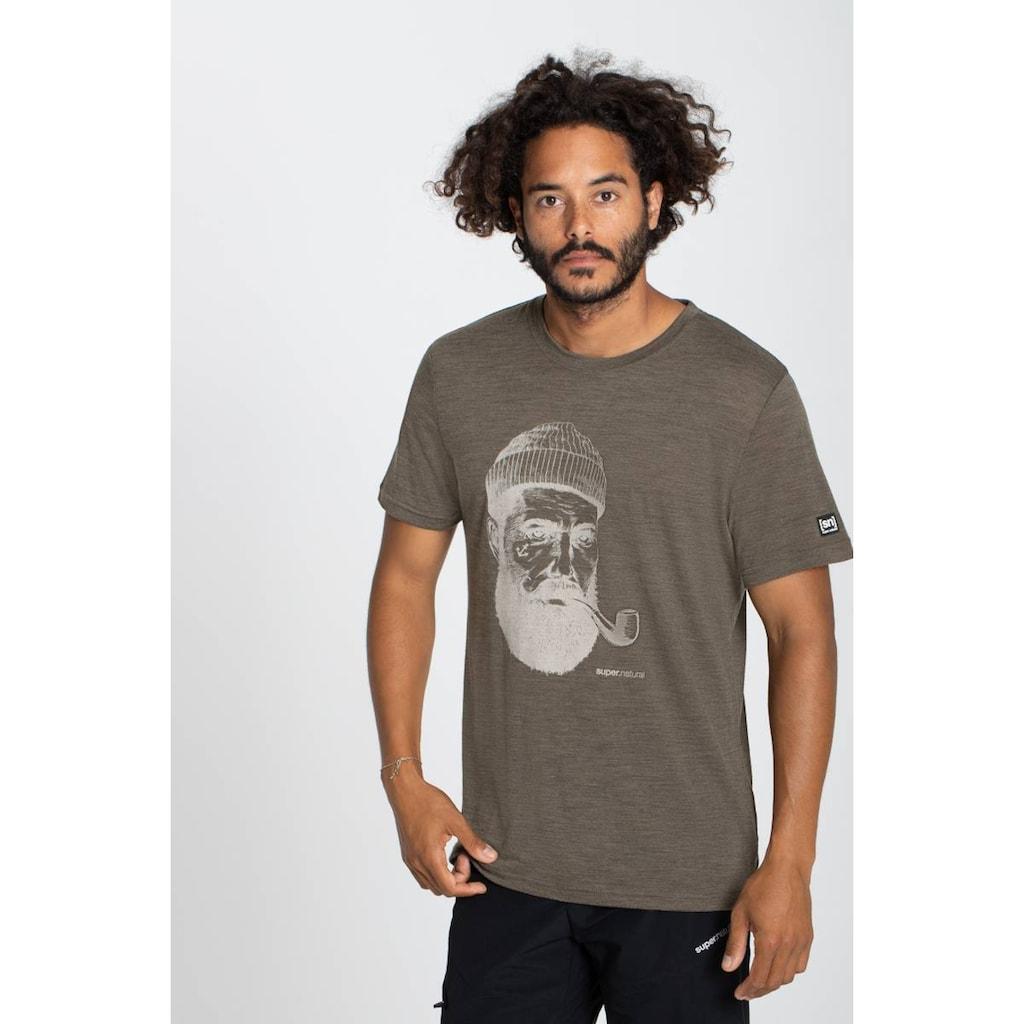 SUPER.NATURAL T-Shirt »M SAILOR TEE«, angenehmer Merino-Materialmix