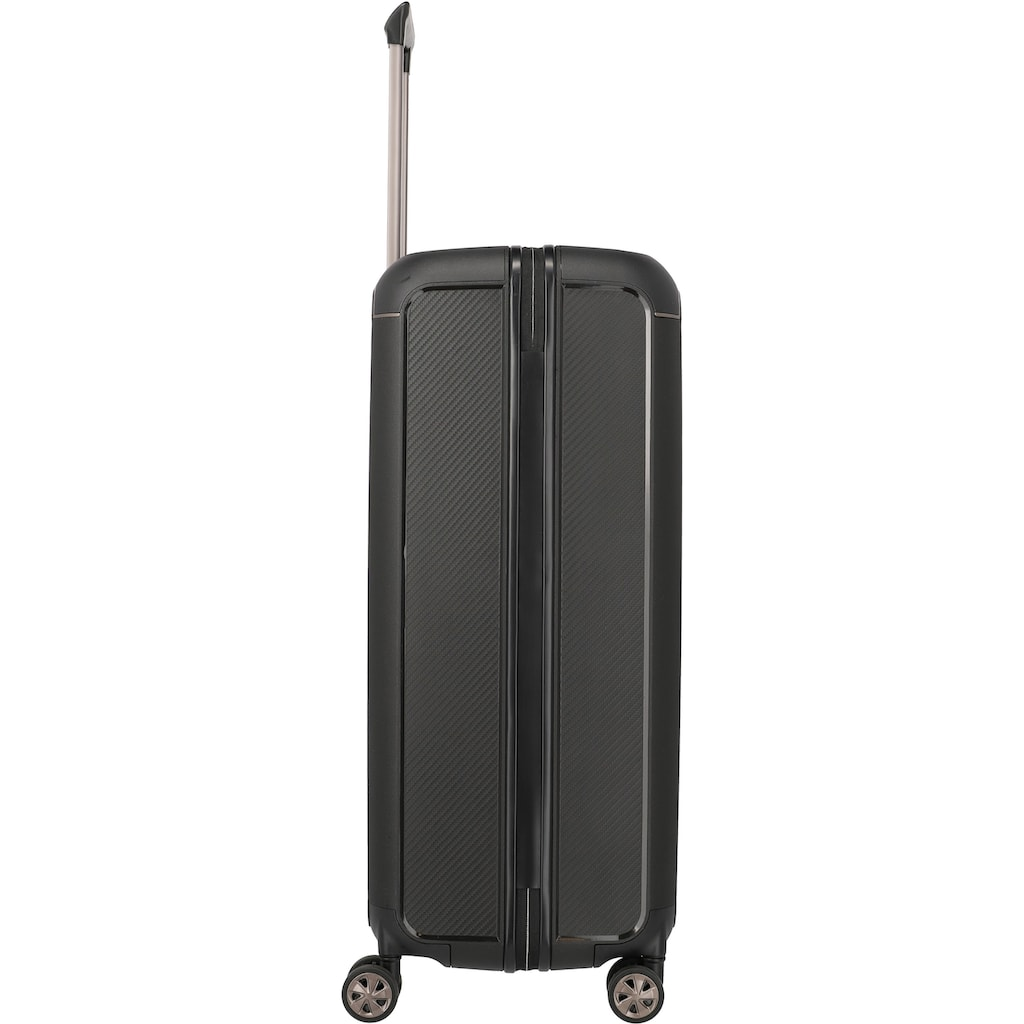 TITAN® Hartschalen-Trolley »Compax L, 77 cm, Black«, 4 Rollen