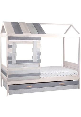 Lüttenhütt Hausbett »Drollig«, Kinderbett in skandinavischer Gemütlichkeit kaufen