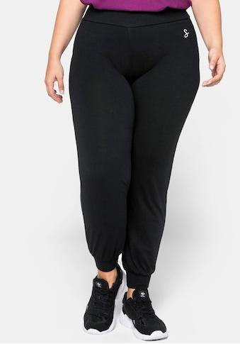 Sheego Yogahose, mit Bündchen am Beinabschluss kaufen