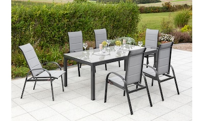 MERXX Gartenmöbelset »Marini«, (7 tlg.), 6 Klappsessel mit ausziehbarem Tisch kaufen