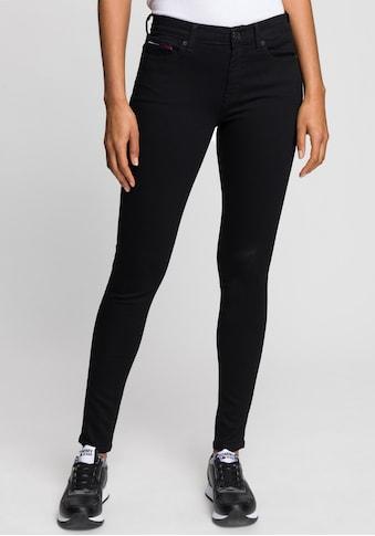 Tommy Jeans Skinny-fit-Jeans »NORA MR SKNY«, mit Tommy Jeans Logo-Badge & Stickereien kaufen