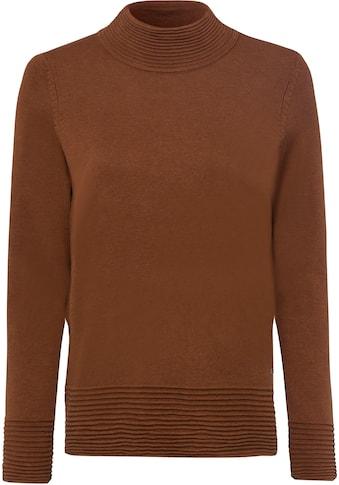 Esprit Strickpullover, mit hoch geschlossenem Ausschnitt und Struktur-Streifen kaufen