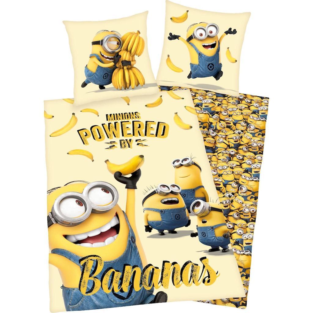 Minions Kinderbettwäsche »Minions«, mit Schriftzug