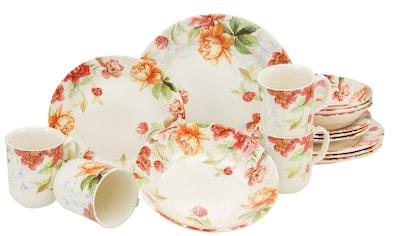 CreaTable Kombiservice »Modern Floral«, (Set, 16 tlg.), oppulentes Rosendekor kaufen