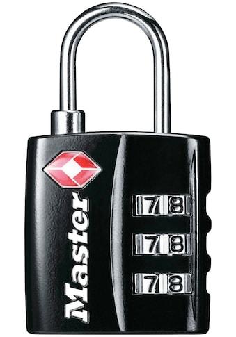 MASTER LOCK Vorhängeschloss Zahlenschloss TSA Gepäckschloss, 30 mm Metallgehäuse kaufen