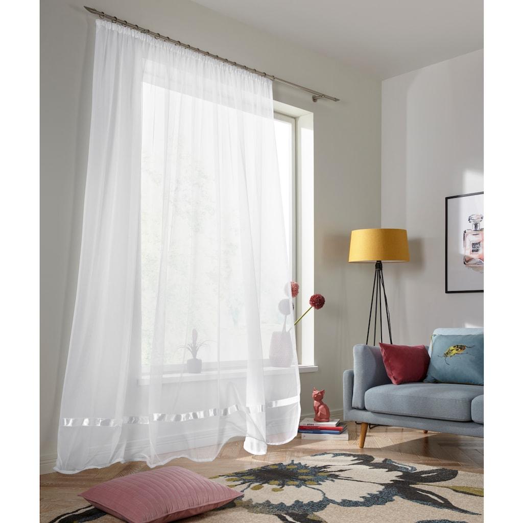 my home Gardine »Eby«, Vorhang, Fertiggardine, Store, transparent