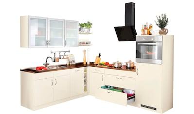wiho Küchen Winkelküche »Peru«, mit E - Geräten, Stellbreite 260 x 235 cm kaufen