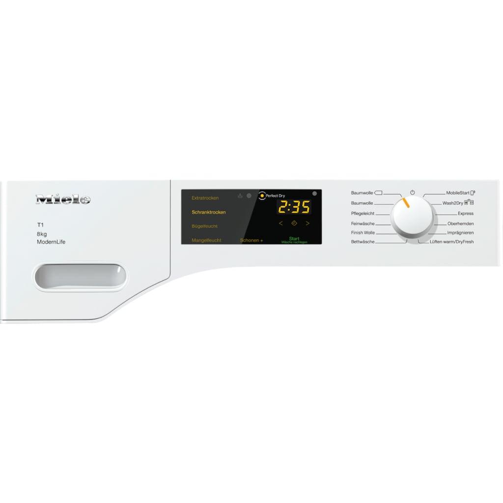 Miele Wärmepumpentrockner »Miele Wärmepumpentrockner TWD360 WP 8kg T1 Lotosweiß«