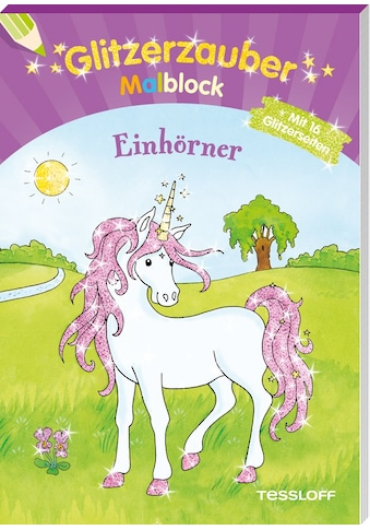 Buch »Glitzerzauber Malblock Einhörner / Corina Beurenmeister« kaufen
