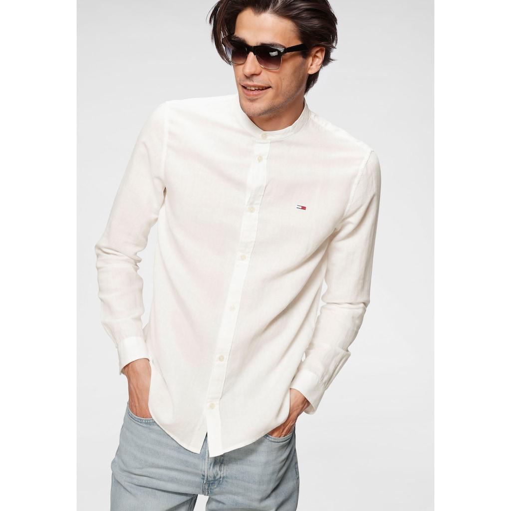 Tommy Jeans Langarmhemd »TJM MAO COLLAR OXFORD SHIRT«
